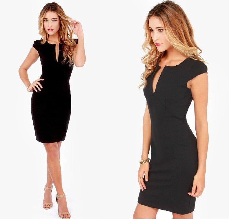 Видеть красивое чёрное платье