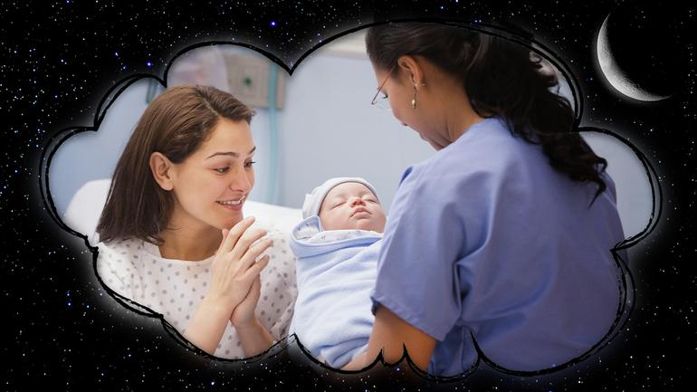 Новорожденный во сне