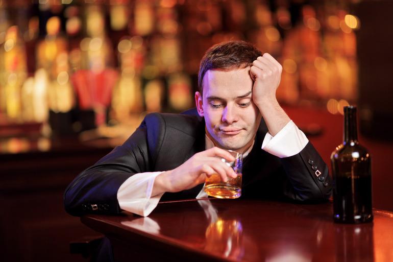 Пьяный парень