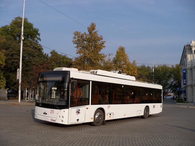 Белый троллейбус