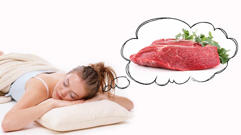 Снится сырое мясо без крови к чему