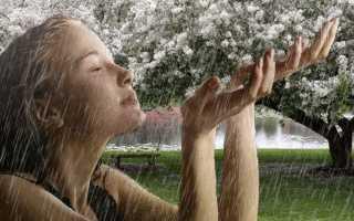 К чему снится попасть под сильный дождь