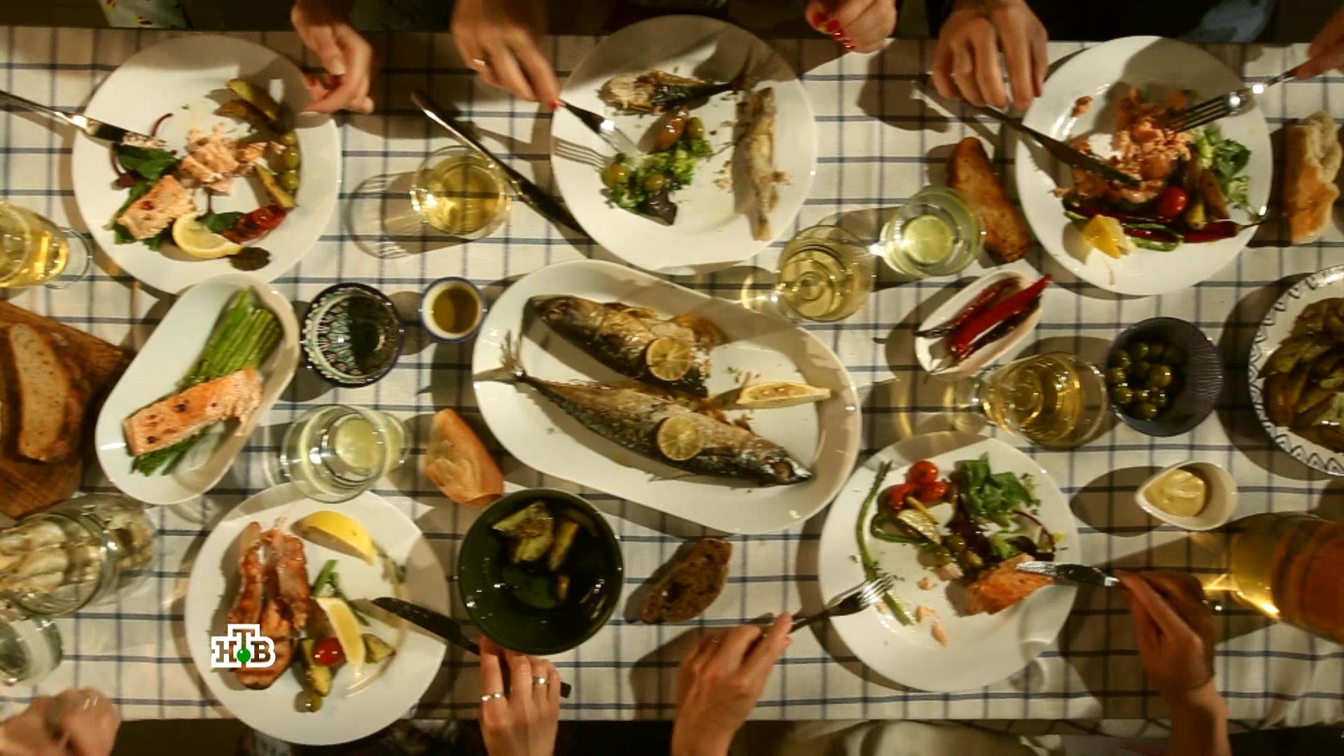 Мертвая рыба в виде еды