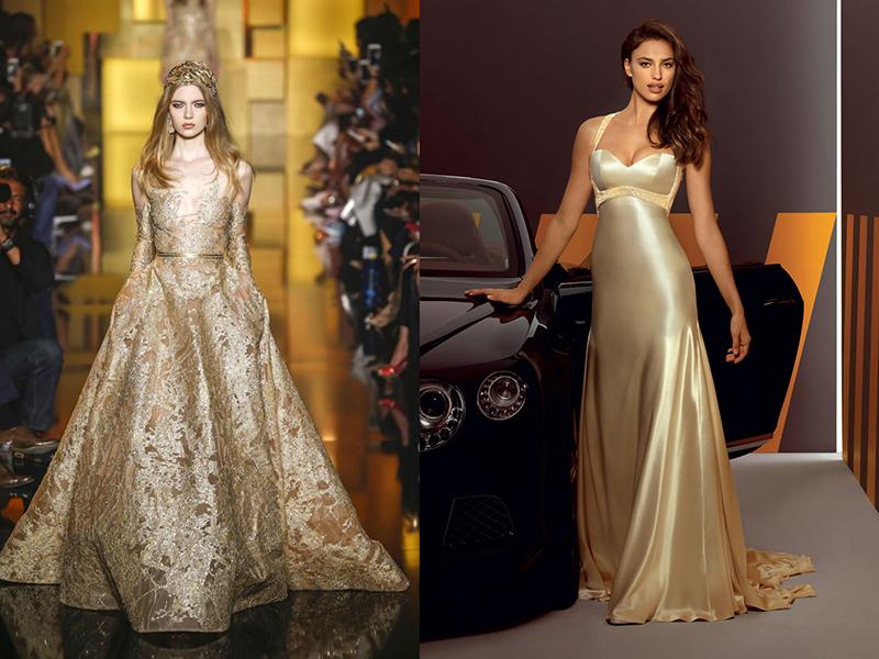 золотое свадебное платье во сне